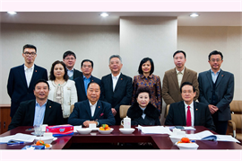 The board meeting of Tung Shing Group in January 2015
